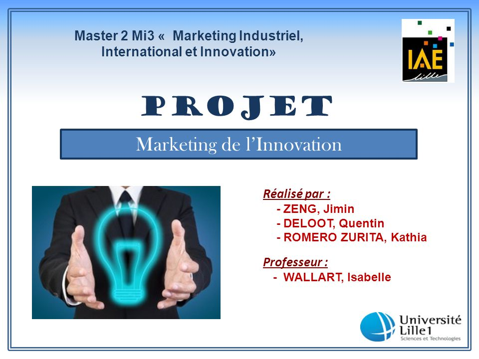 Master 2 Mi3 « Marketing Industriel, International et Innovation»