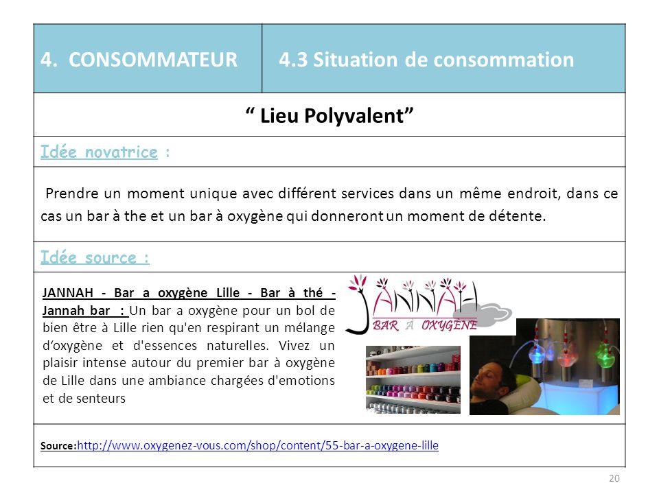 4.3 Situation de consommation