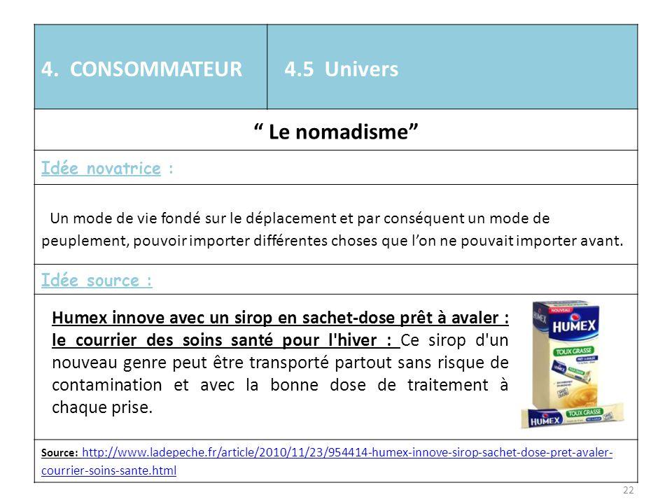 4. CONSOMMATEUR 4.5 Univers Le nomadisme