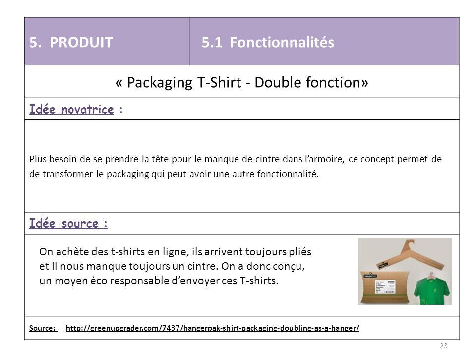 « Packaging T-Shirt - Double fonction»