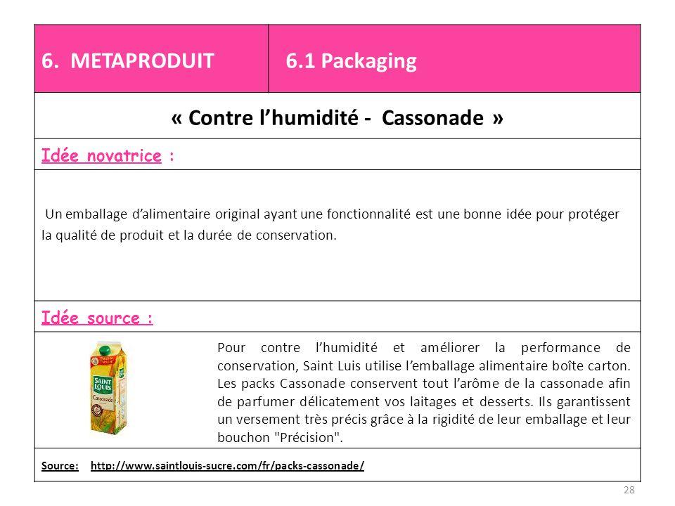 « Contre l'humidité - Cassonade »