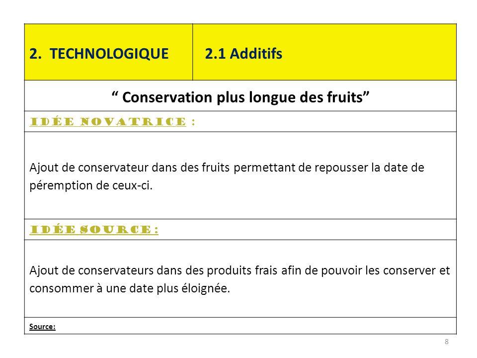 Conservation plus longue des fruits