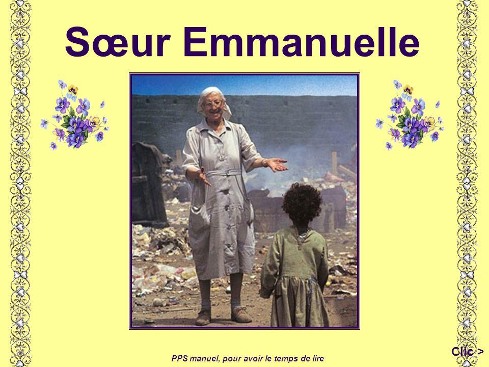 Sœur Emmanuelle Clic > PPS manuel, pour avoir le temps de lire