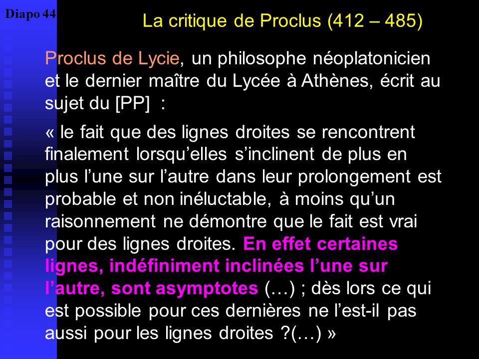 La critique de Proclus (412 – 485)