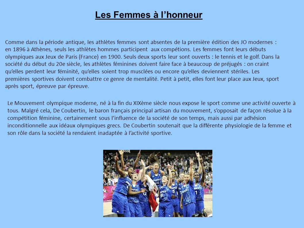 Les Femmes à l'honneur