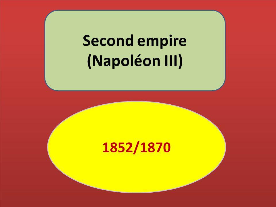 Second empire (Napoléon III)