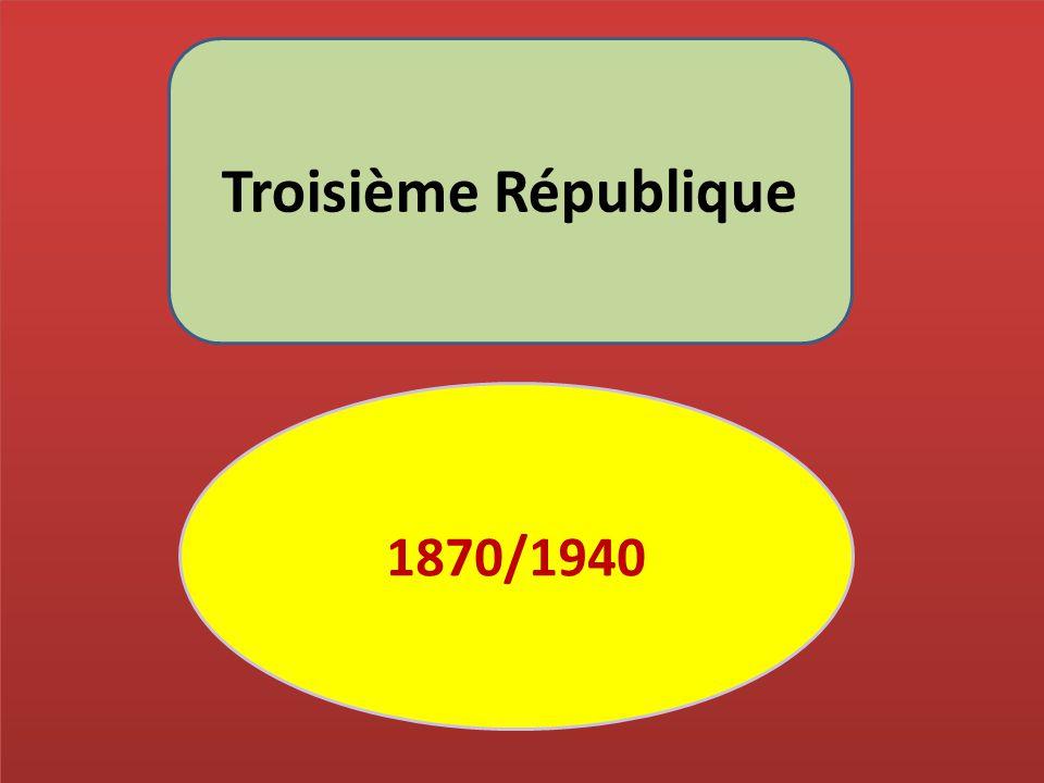 Troisième République 1870/1940