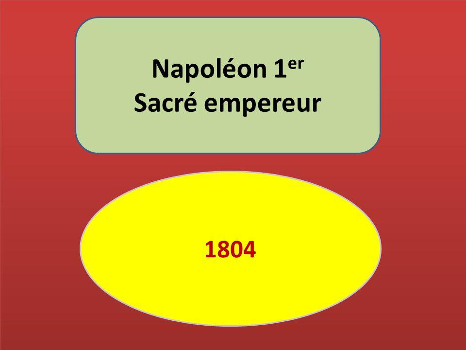 Napoléon 1er Sacré empereur