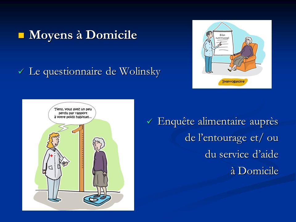 Moyens à Domicile Le questionnaire de Wolinsky