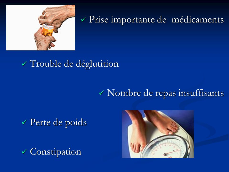 Prise importante de médicaments