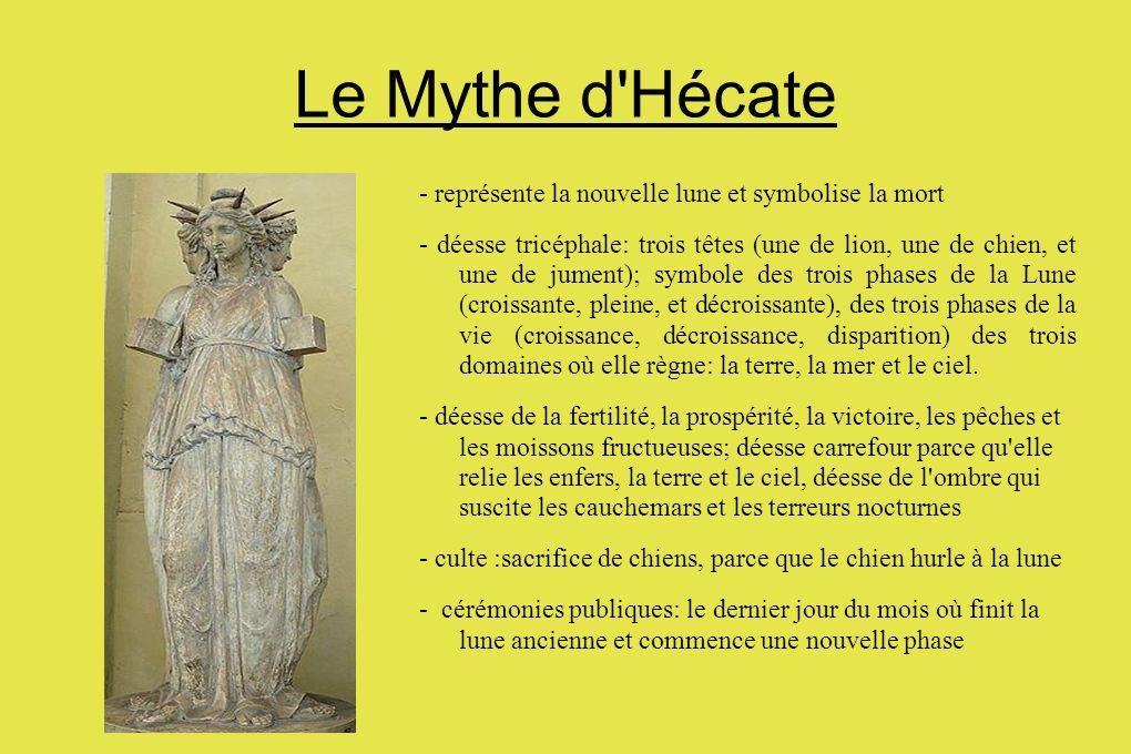 Le Mythe d Hécate - représente la nouvelle lune et symbolise la mort