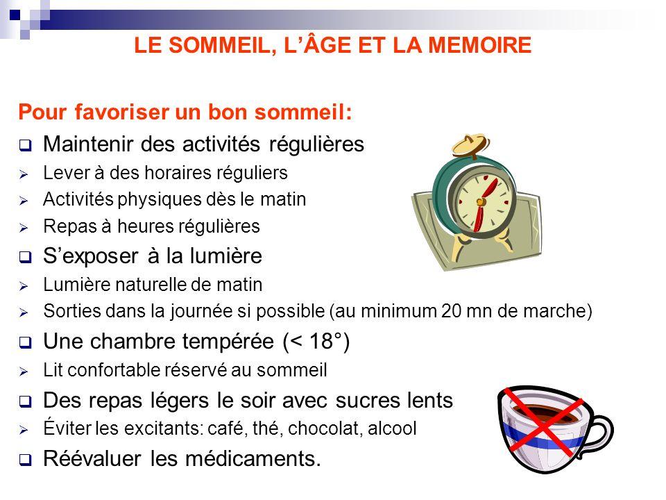 LE SOMMEIL, L'ÂGE ET LA MEMOIRE