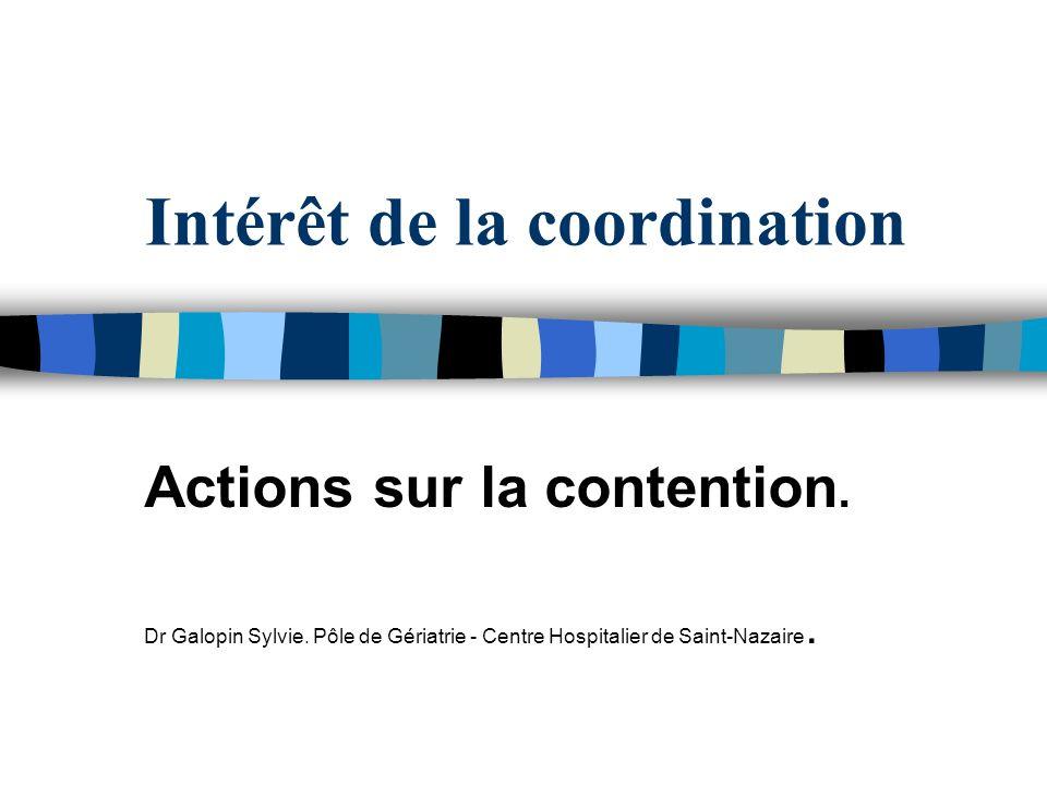 Intérêt de la coordination