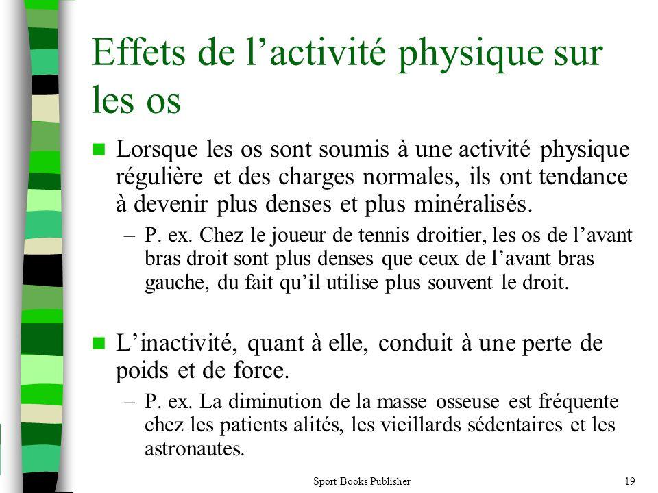 Effets de l'activité physique sur les os