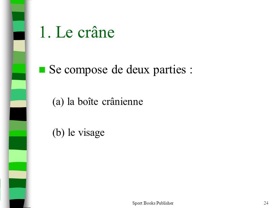 1. Le crâne Se compose de deux parties : (a) la boîte crânienne