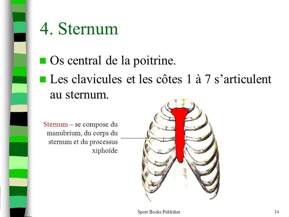 4. Sternum Os central de la poitrine.