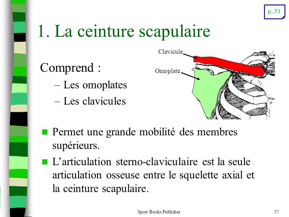 1. La ceinture scapulaire