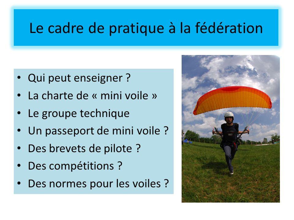 Le cadre de pratique à la fédération