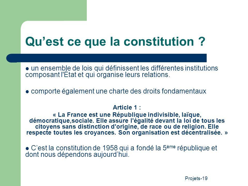 Qu'est ce que la constitution