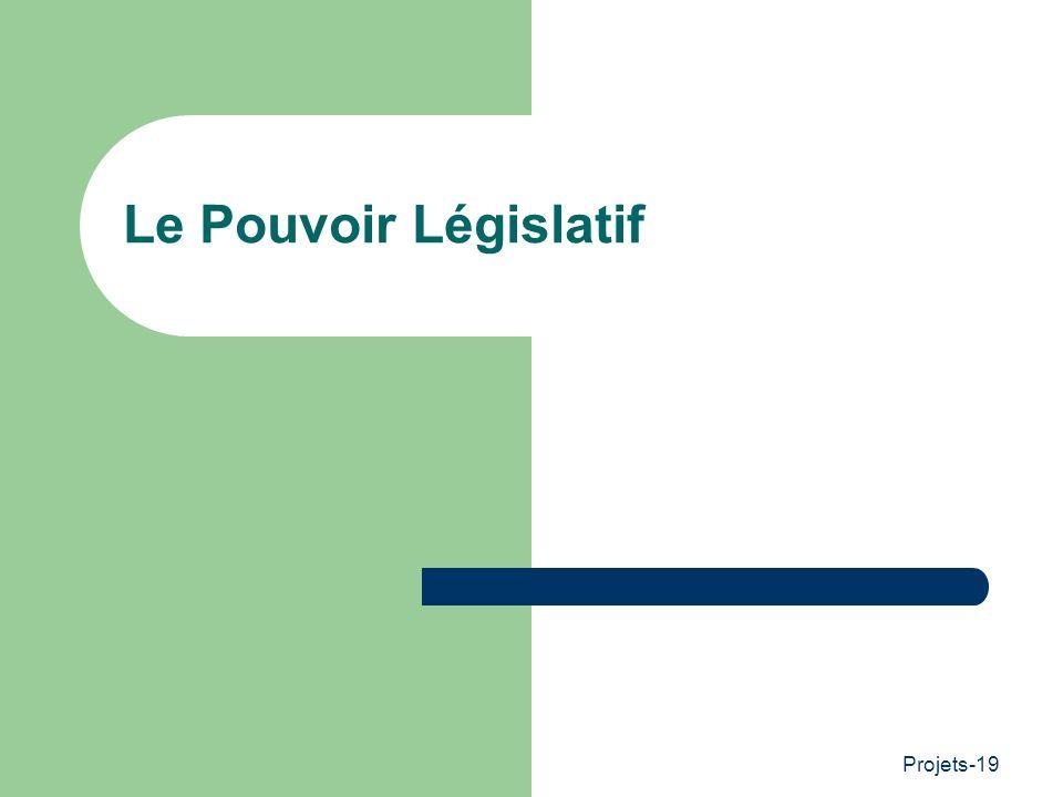 Le Pouvoir Législatif Projets-19