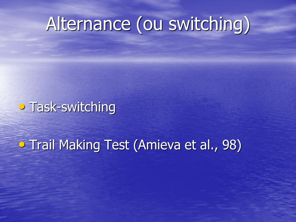 Alternance (ou switching)