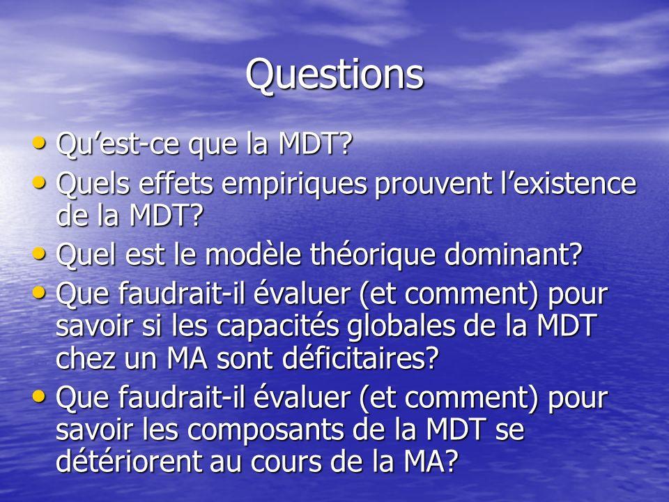 Questions Qu'est-ce que la MDT
