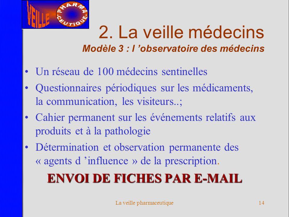 2. La veille médecins Modèle 3 : l 'observatoire des médecins