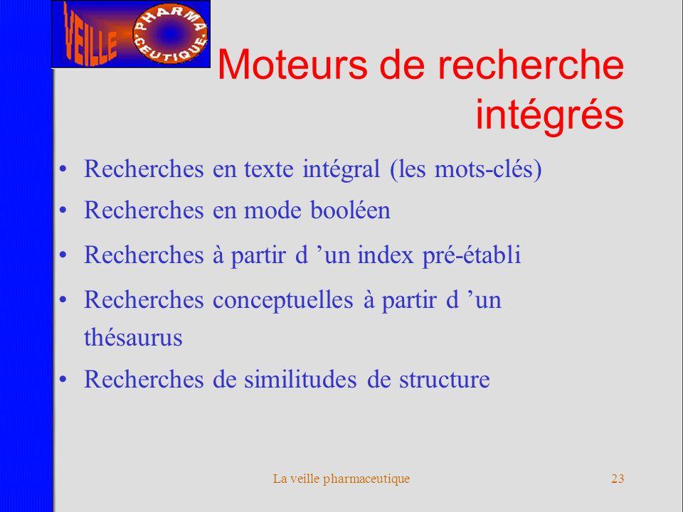 Moteurs de recherche intégrés