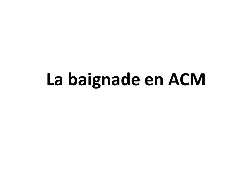 La baignade en ACM