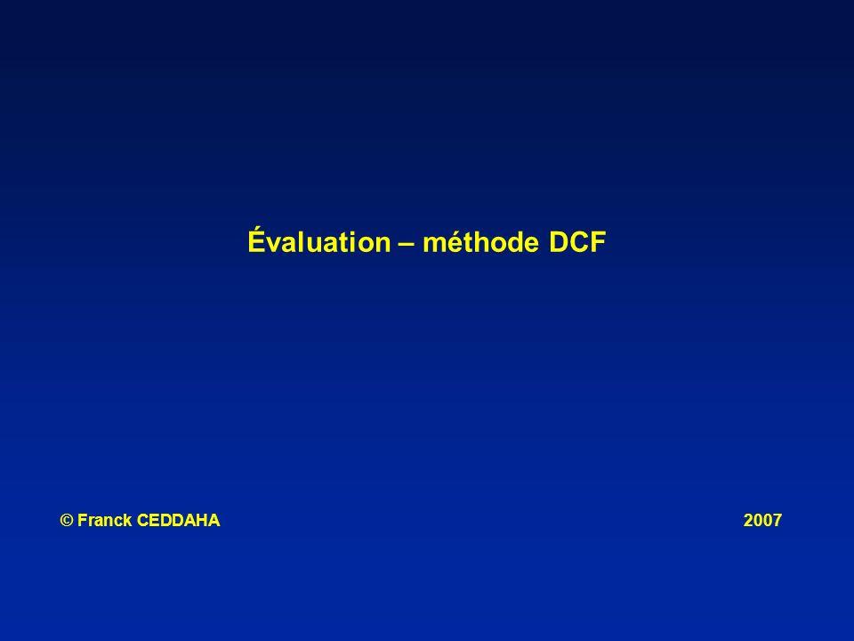 Évaluation – méthode DCF