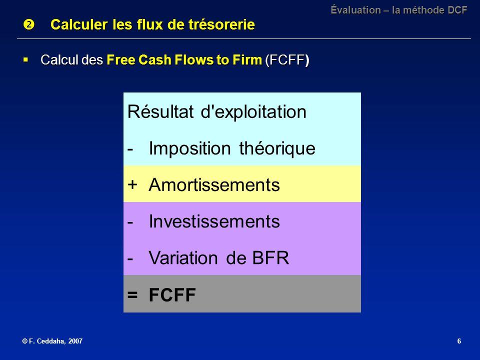 Calculer les flux de trésorerie
