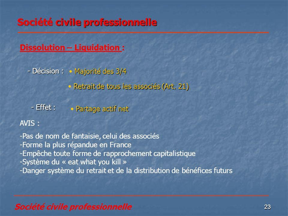 Société civile professionnelle