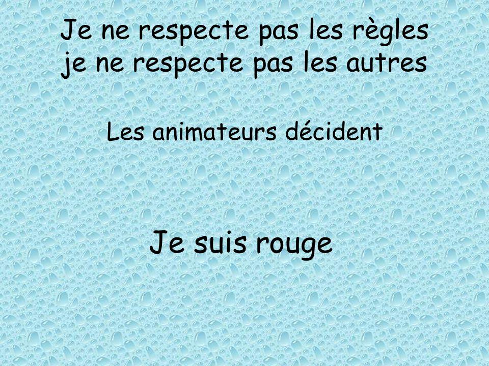 Je ne respecte pas les règles je ne respecte pas les autres