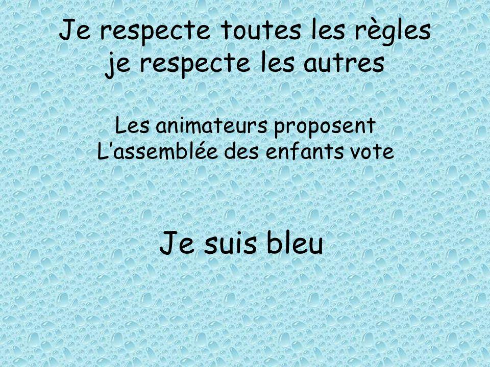 Je respecte toutes les règles je respecte les autres