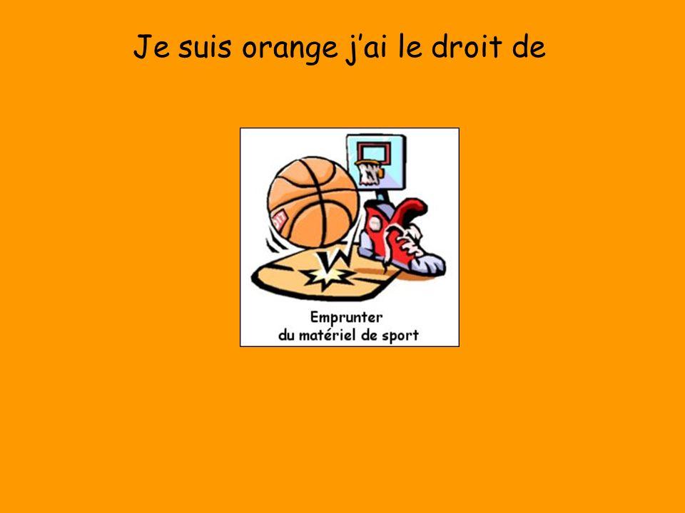 Je suis orange j'ai le droit de