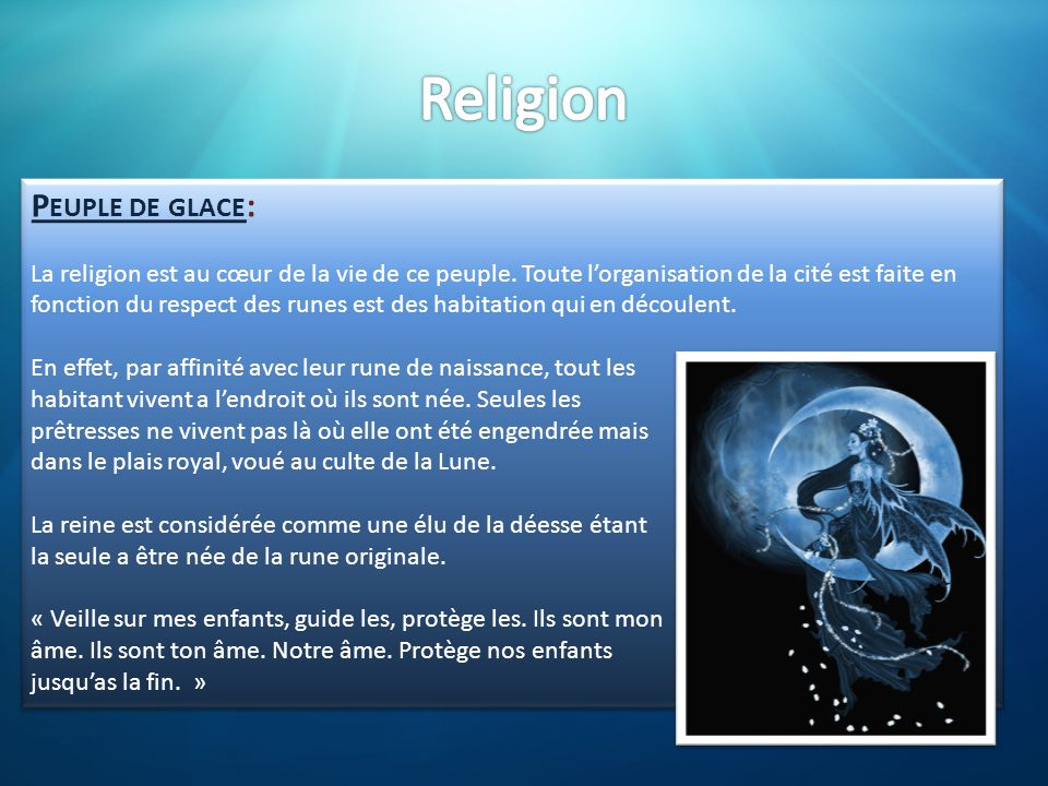 Religion Peuple de glace: