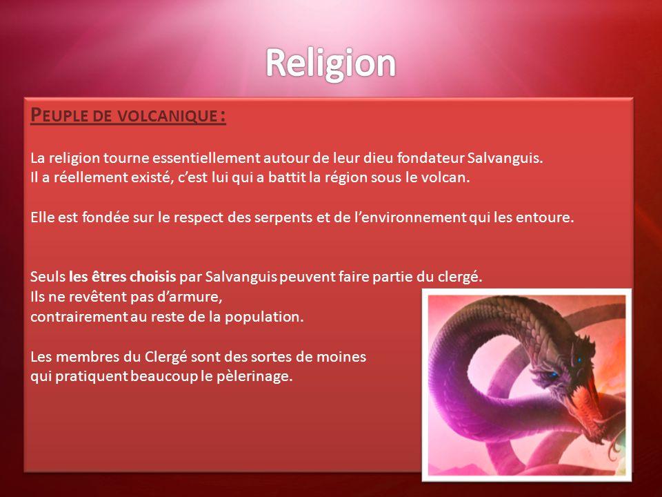 Religion Peuple de volcanique :