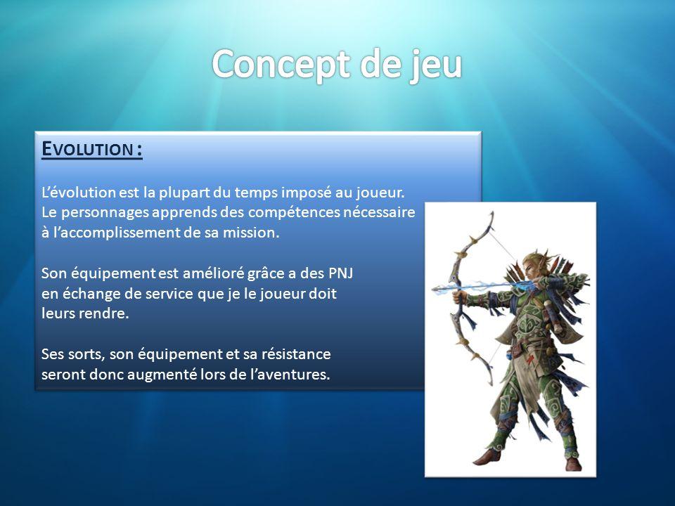 Concept de jeu Evolution :