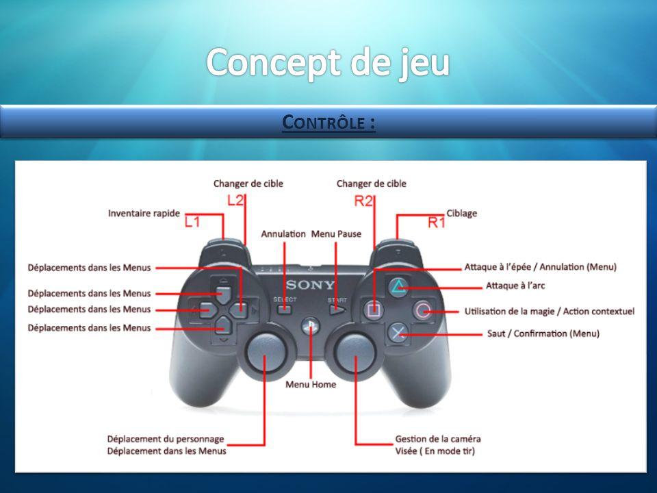 Concept de jeu Contrôle :
