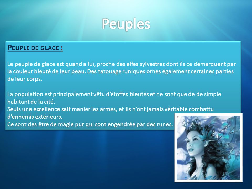 Peuples Peuple de glace :