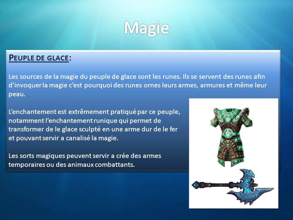 Magie Peuple de glace:
