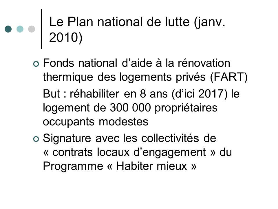 Le Plan national de lutte (janv. 2010)