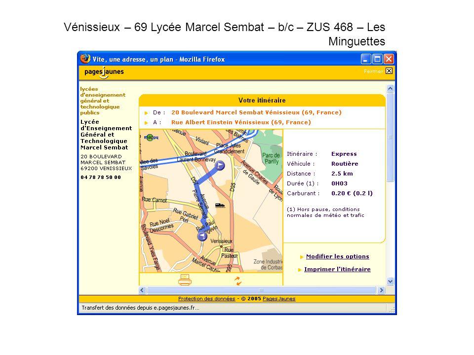 Vénissieux – 69 Lycée Marcel Sembat – b/c – ZUS 468 – Les Minguettes