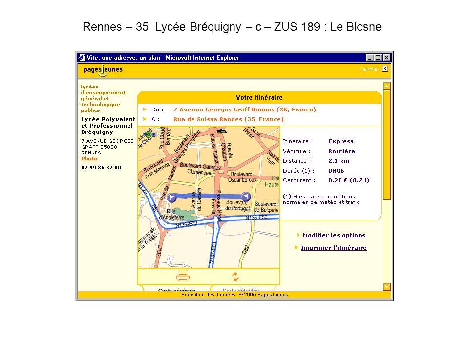 Rennes – 35 Lycée Bréquigny – c – ZUS 189 : Le Blosne