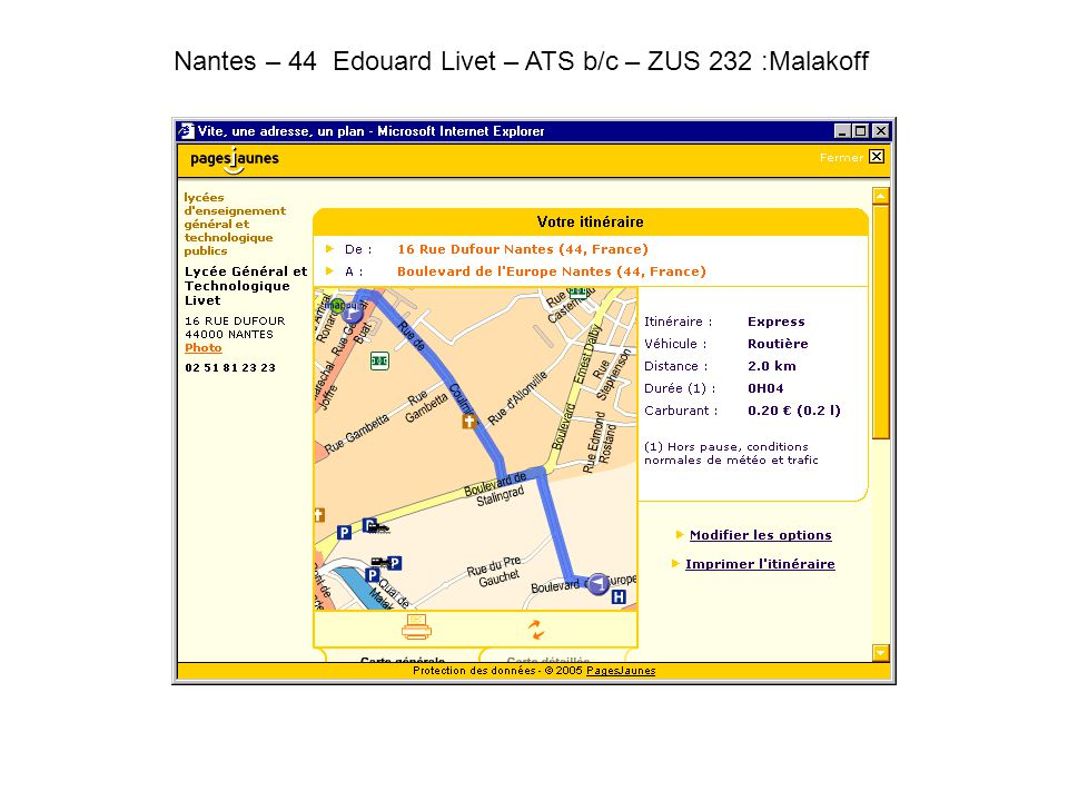 Nantes – 44 Edouard Livet – ATS b/c – ZUS 232 :Malakoff