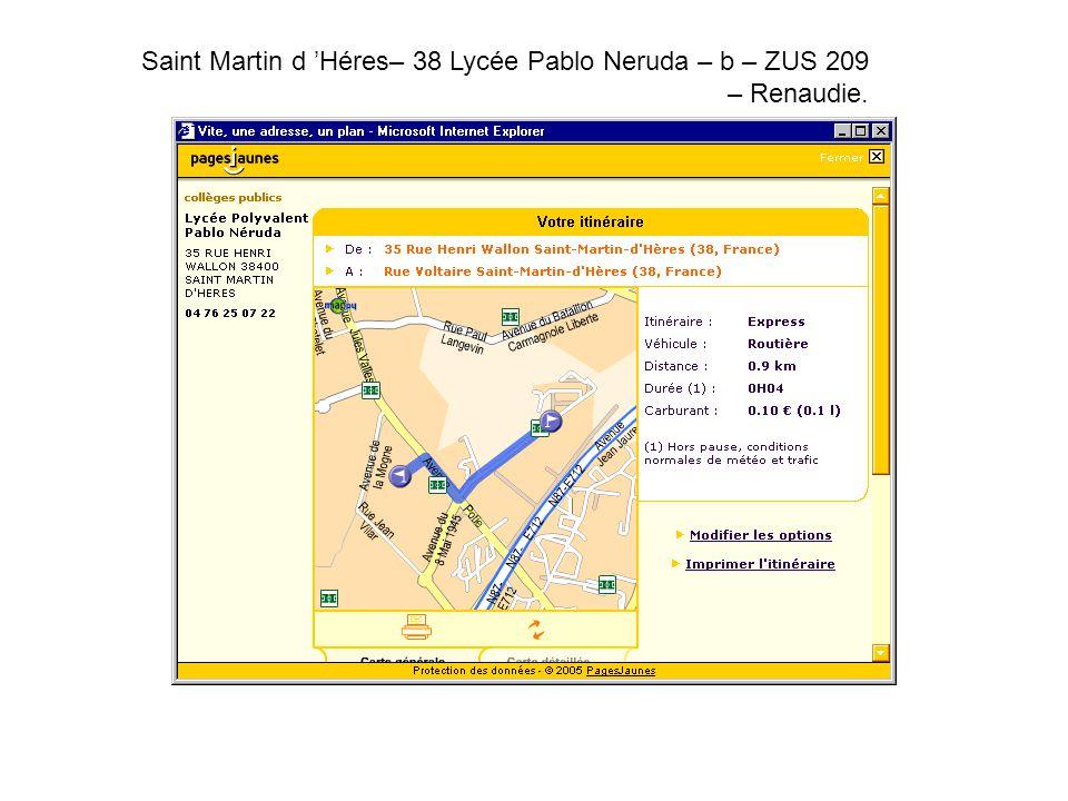 Saint Martin d 'Héres– 38 Lycée Pablo Neruda – b – ZUS 209 – Renaudie.