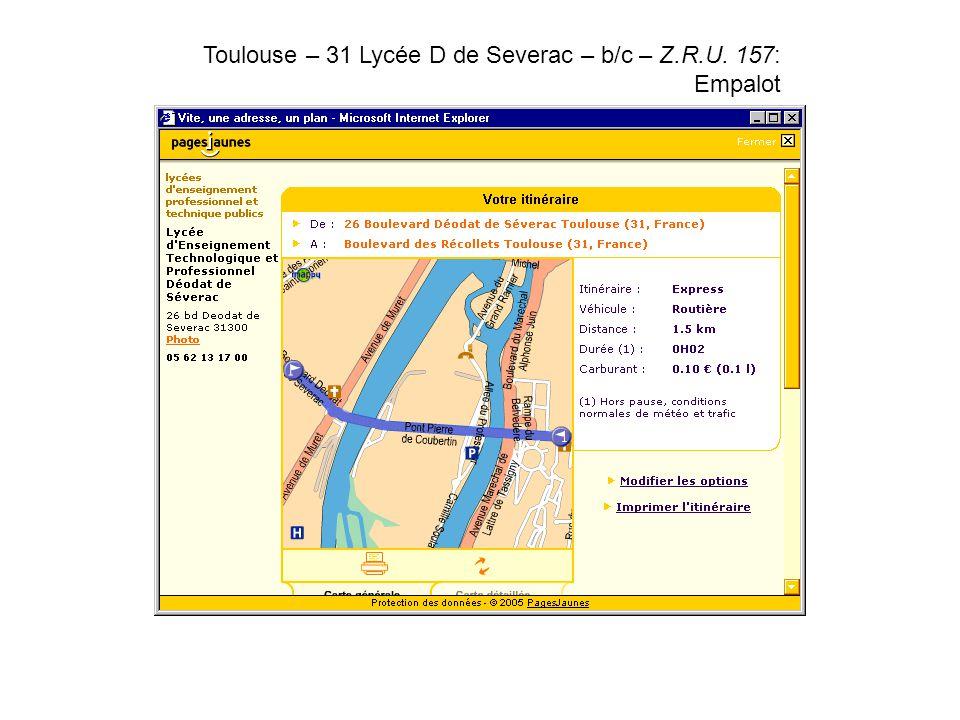 Toulouse – 31 Lycée D de Severac – b/c – Z.R.U. 157: Empalot