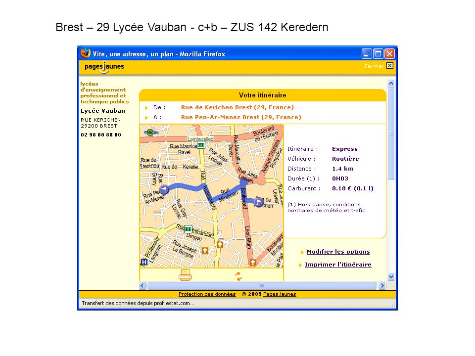Brest – 29 Lycée Vauban - c+b – ZUS 142 Keredern