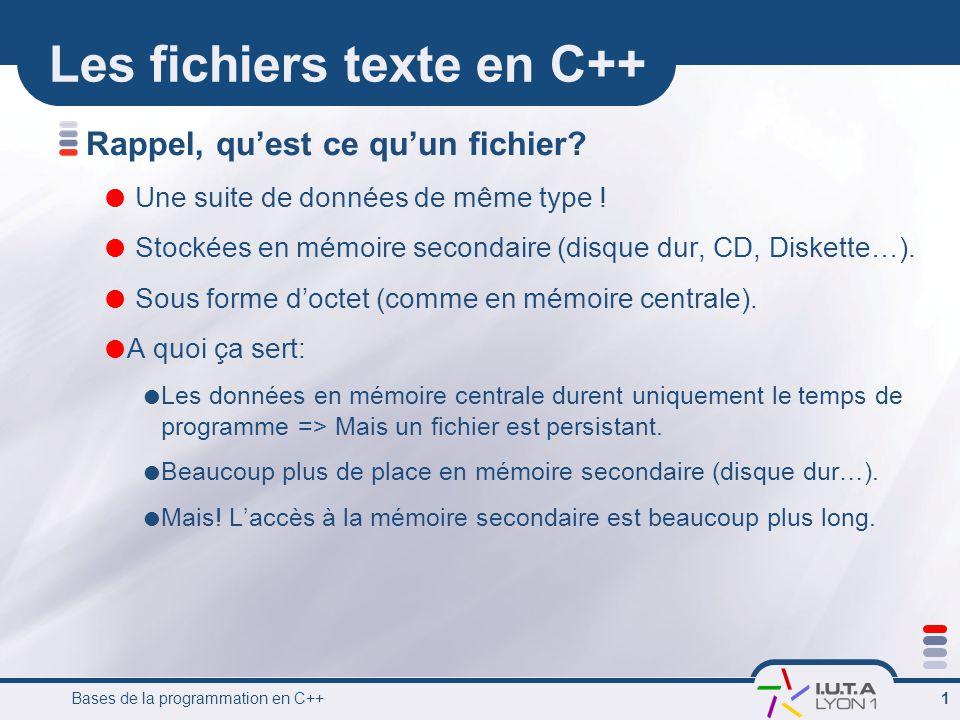 Les fichiers texte en C++