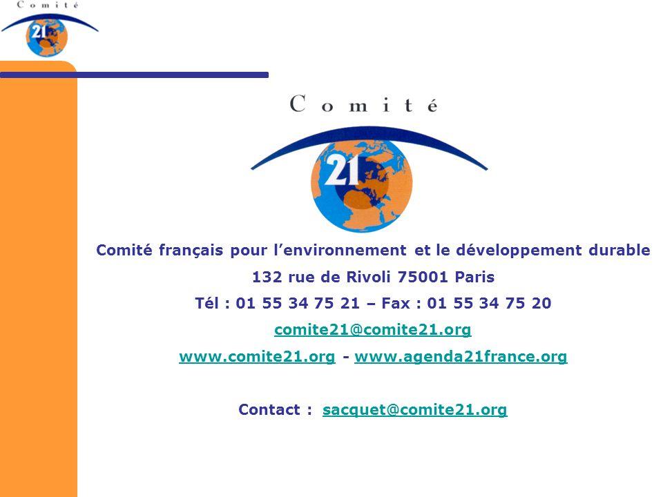 Comité français pour l'environnement et le développement durable
